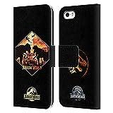 Head Case Designs Officiel Jurassic World T-Rex VS. Indoraptor Vecteur Art Coque en Cuir à Portefeuille Compatible avec iPhone 5...