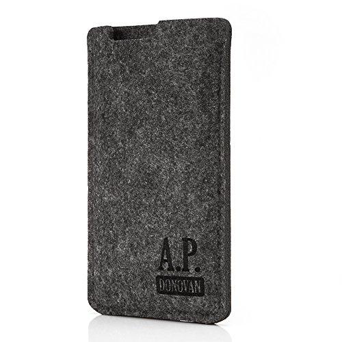 A.P. Donovan - Handytasche Schutzhülle - Filztasche Filzhülle - Handysocke aus Filz - Handy Hülle Tasche aus Stoff Sleeve - Grau, iPhone 6 / 6s