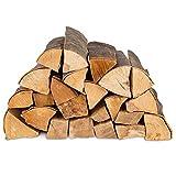100kg (4x25kg) Brennholz & 100 Bioanzünder - Kaminholz 100% Buchenholz Feuerholz 25cm -...