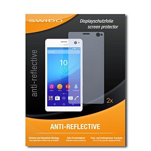 SWIDO Schutzfolie für Sony Xperia C4 Dual [2 Stück] Anti-Reflex MATT Entspiegelnd, Hoher Festigkeitgrad, Schutz vor Kratzer/Bildschirmschutz, Bildschirmschutzfolie, Panzerglas-Folie