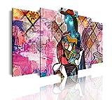 DekoArte 545 - Cuadros Modernos Impresión de Imagen Artística Digitalizada | Lienzo Decorativo Para Tu Salón o Dormitorio | Abstractos Arte Picasso Retrato Marie Therese Walter | 5 Piezas 150 x 80 cm