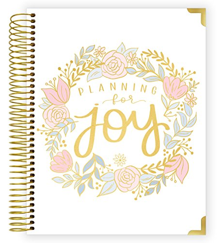 "bloom daily planners New Pregnancy and Baby's First Year Calendar Planner & Keepsake Journal with Stickers - Hardcover Scrapbook Memory Book Organizer - Undated - 8"" x 10' - Planning for Joy"
