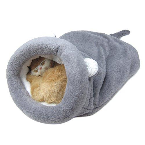 Alfie Pet - Dayton Cat Sleeping Cave Bed - Color: Grey, Size: Medium