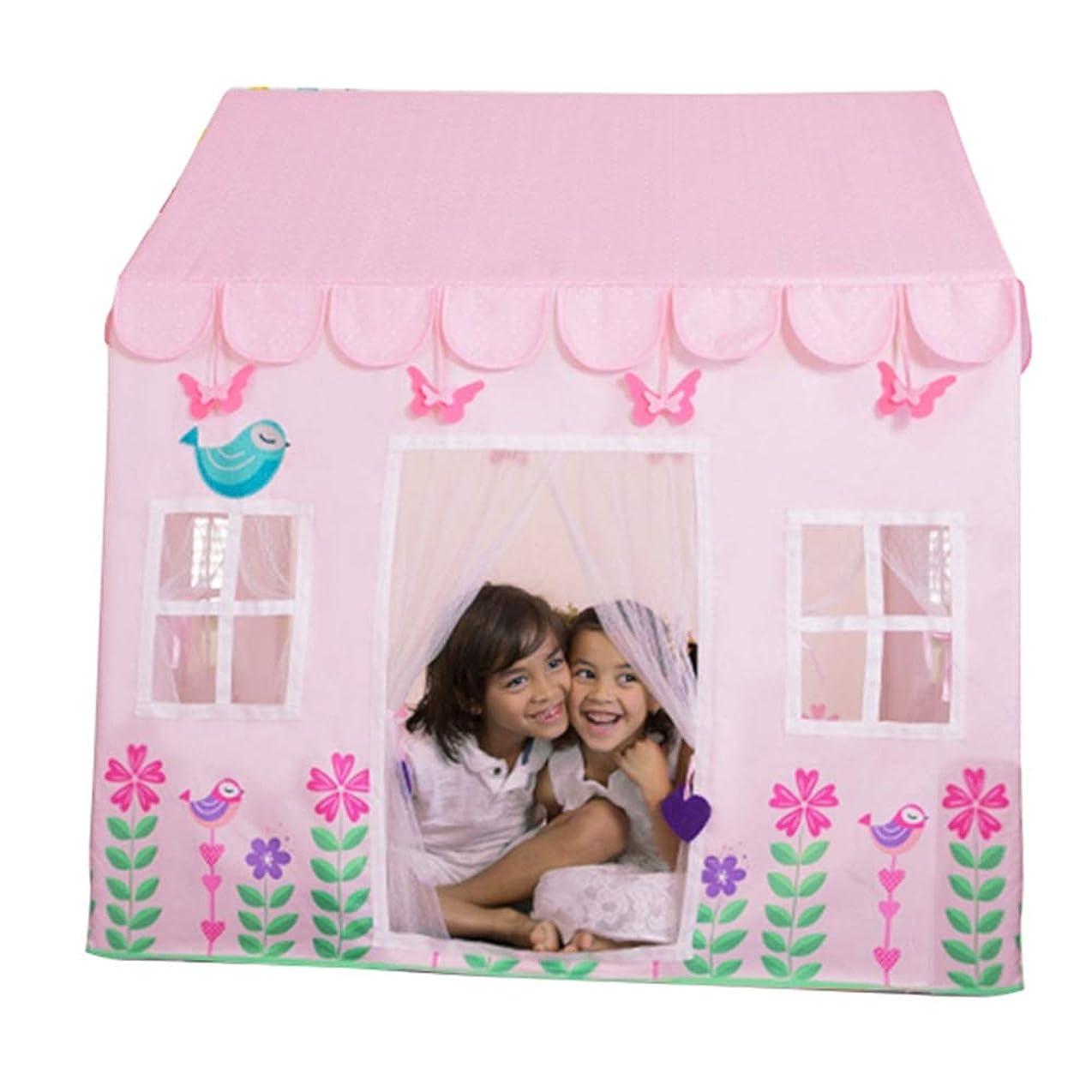 フォルダ体略すHLMIN 子供用テントキッズテント女の子のための男の子のプレイハウスの家の屋内屋外の演劇のテント、3色 ( Color : Pink )