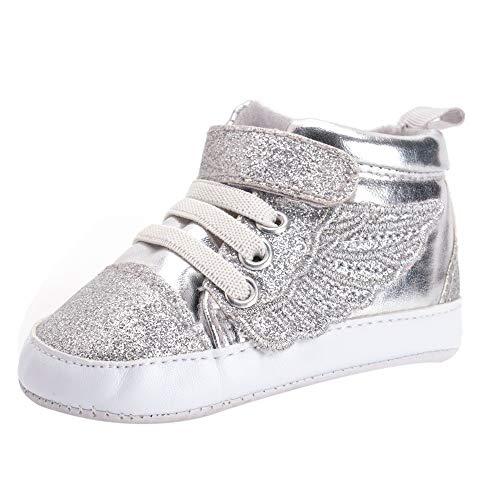 Jaysis weiche Leder Babyschuhe Cartoon warme Stiefe Sneaker mit Sternen mit Flügel Schuh Anti-Rutsch Baby Turnschuh Schuhe