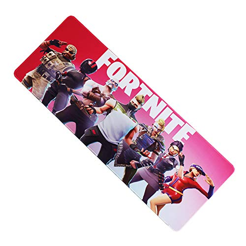Vnxun Extended Gaming Mouse Pad with Stitched Edges, Long Extended Mousepad (31.5x11.8x0.12In), Desk Pad Keyboard Mat, Non-Slip Base, for Work & Gaming, Office & Home, FORTNITE