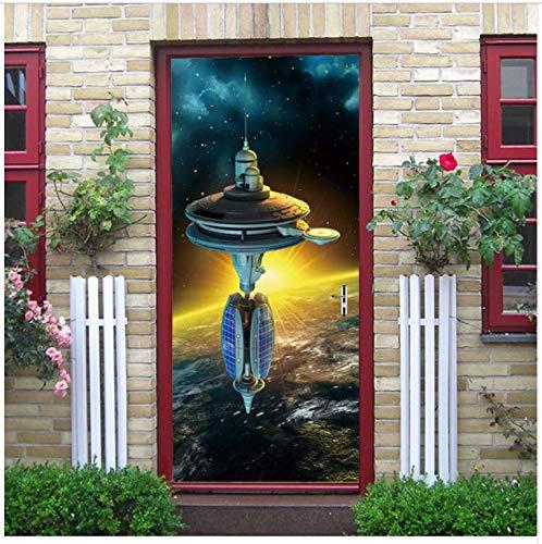 Ymran Pegatinas para Puerta de Nave Espacial Puerta corredera Calcomanías de baño Decoracion Etiqueta removible