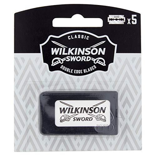 Wilkinson Sword Classic Vintage Edition Rasierklingen für Rasierhobel Hochwertig und besonders langlebig 5 Stk.