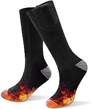 verwarmde sokken, Wasbare oplaadbare batterij thermische sok voor mannen en vrouwen, winter warme katoenen verwarmingssox ...