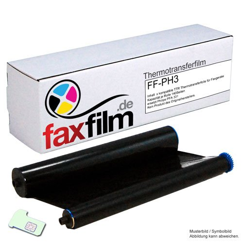 Kompatibler Ink-Film ersetzt Philips PFA331 / PFA-331 / PFA 331 für FAX Philips Magic 3 und Magic 3-2 Serie Kapazität 140 Seiten
