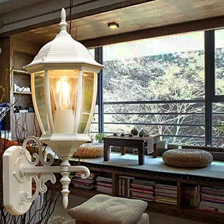Wandleuchte Outdoor-Wand Lampe Wasserdicht Amerikanische Villa Retro-Gang Traditionelle Aluminium-Glas E27 Wand Sconce Laternen Einzigartige Mode Garden Park Courtyard,Gold