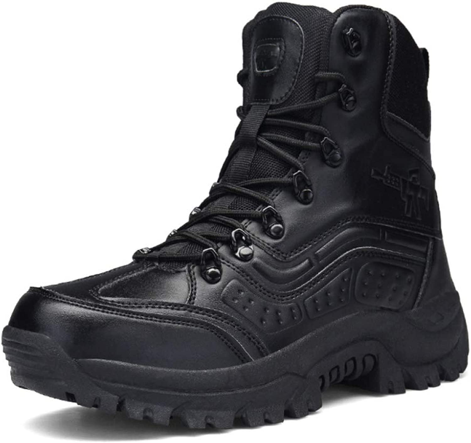 Men'S Army Boots Large Size Outdoor Snow Boots Non Slip Warm Warrior Boots Hiking Travel Riding Boots Army Boots
