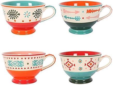 Handbemalt Teetasse. Set of 4 4 4 B06W2G4TVN | Verschiedene Arten und Stile  a0ead9