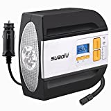 SUAOKI 12V DC Tire Inflator Electric Portable Auto Air Compressor Pump to 100PSI for Car,Truck, Bicycle, Basketball
