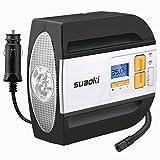 Suaoki RCP - Compresor de aire digital, bomba inflador portátil con luz LED (12V, 100 PSI, 2 adaptadores boquilla,...