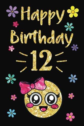 Feliz Cumpleaños Año diario, Feliz Cumpleaños, 12: emoji 12th Cumpleaños diario portátil, diario de…