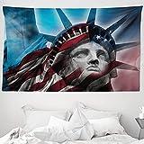 ABAKUHAUS Vereinigte Staaten Wandteppich & Tagesdecke, Freiheit, aus Weiches Mikrofaser Stoff Wand Dekoration Für Schlafzimmer, 230 x 140 cm, Mehrfarbig