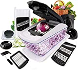 Zuci Vegetable Chopper,12 In 1 Multi-Function Kitchen Veg Cutter With Food Container & Cleaning...