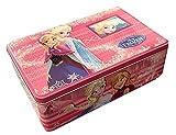 TrendyMaker Dsiney Frozen - Caja de metal para guardar galletas, diseño de Frozen, color rosa