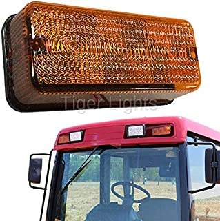 LED Amber Light #92185C1 - Fits Case IH Tractor, Case IH Combine, Ford New Holland Tractor, International Tractor and Versatile Tractor (1086, 3220, 3260, 395, 4210, 4230, 4240, 7220, 7230 & More!)