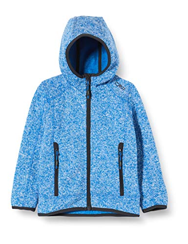 CMP Jungen Strick Fleece Jacke 3H60844, Blau (Ocean M963), 98