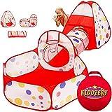 Kiddzery 3pc Kids Play Tent Crawl Tunnel and Ball...