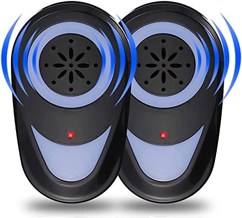 seenlast Repellente Ultrasuoni, 2 Pack Antizanzare Ultrasuoni Elettrico Repellente per Topi Scarafaggi Anti Insetti, Pest Repeller Efficace Contro zanzare Ratti Formiche Pulci Ragni Rettili