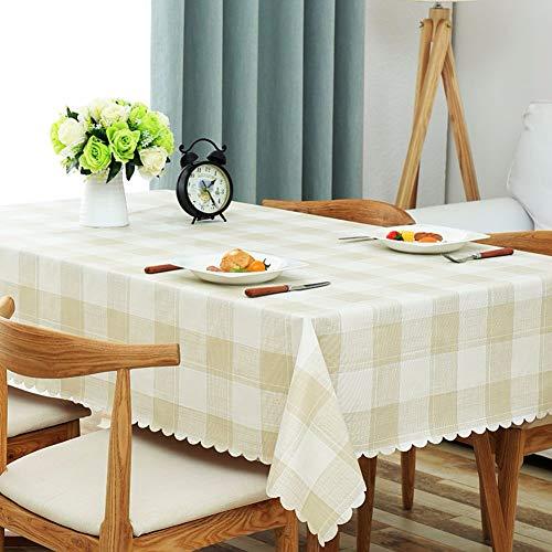 ZHUOBU Modern geruit tafelkleed, waterdicht oliebestendig ijzer-proof tafelkleed rechthoekig eettafel bijzettafel picknickbescherming (kleur: G, grootte: 130x190cm (51x75inch))
