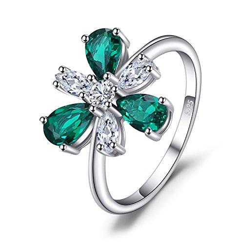 JewelryPalace Anillo Lujo Declaración 4ct Nano Rusa