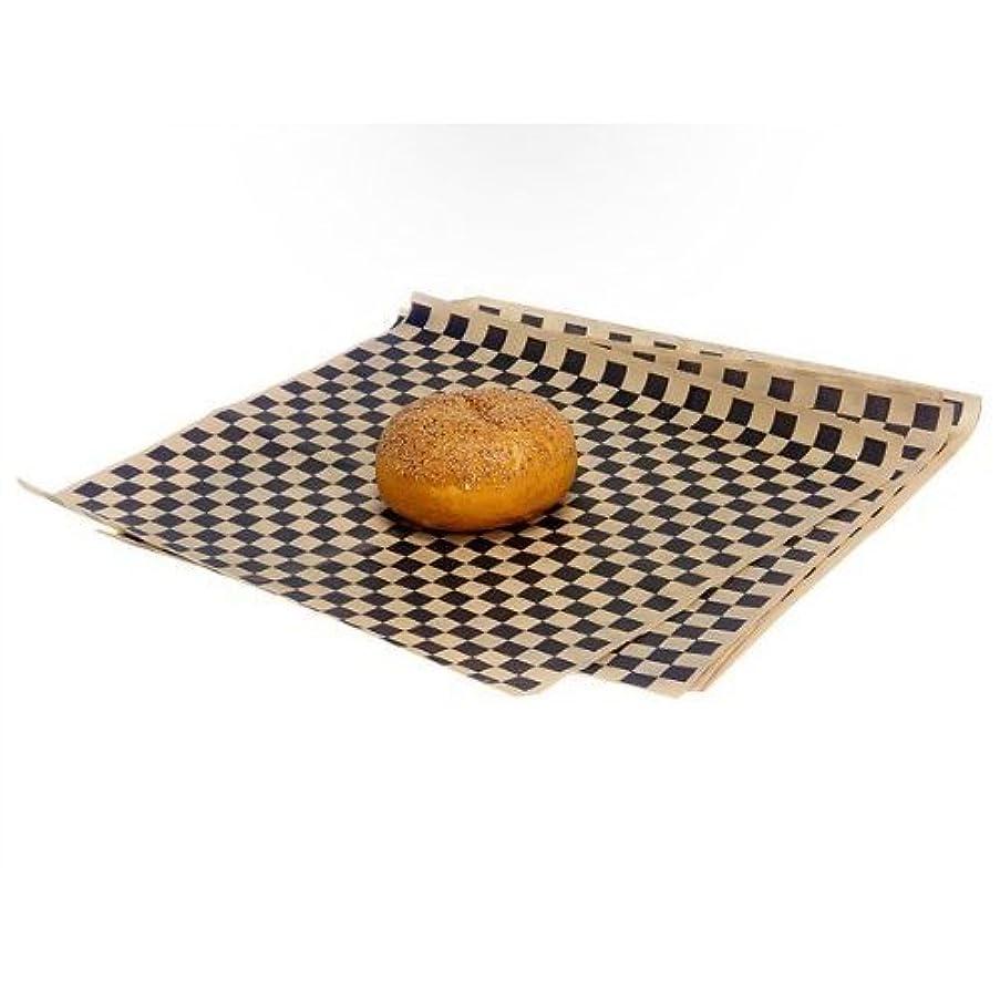 Food Grade Tissue Paper, Black Tan Check