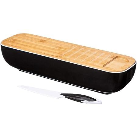 Five - Boîte à Pain pour Baguette avec Couteau et planche 40 x 12 x 8.5 cm collection Bambou cuisine
