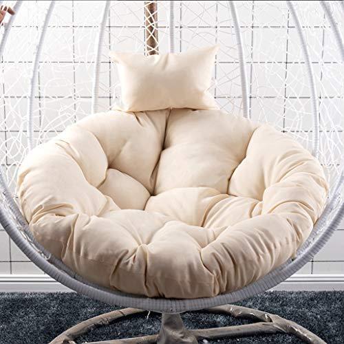 HLDBW Hanging Egg hangstoel kussen pad dikke schommelstoel kussen met kussen ronde schommelstoel kussen voor terras geen stoel diameter 105 cm (41inch)