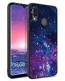 BENTOBEN Huawei P Smart 2019 Hülle, Handyhülle Huawei P Smart 2019 Hülle Slim leicht dünn Nebula Pattern Muster PC Schale mit TPU Bumper Kratzfest Schutzhülle Hülle für Huawei P Smart 2019 Lila