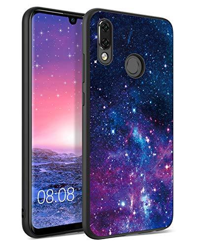 BENTOBEN Huawei P Smart 2019 Hülle, Handyhülle Huawei P Smart 2019 Hülle Slim dünn Nebula Pattern Muster PC Schale TPU Bumper Kratzfest Schutzhülle Hülle für Huawei P Smart 2019/Honor 10 Lite Lila