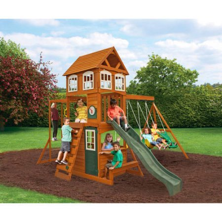 KidKraft Cranbrook Cedar Wood Swing Set Play Set