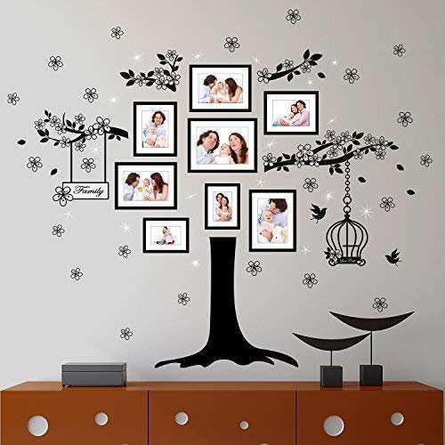 Wallflexi Dekorationen Swarovski Kristall & Stammbaum Wand Sticker Wohndeko Dekor, bunt