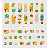 Petitwings Nail Stickers Wraps Decals Polish Self-Adhesive for Kid Girls Boys, a Nail File (Korean Made) (Pinocchio)