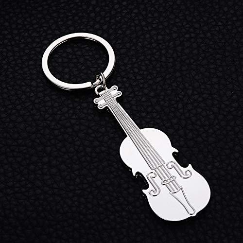 ZHTCD persoonlijkheid gitaar styling sleutelhanger auto sleutelring charme metaal viool sleutelhanger sleutelhanger accessoire geschenk