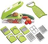 AADARSH® 12 in 1 Vegetable & Fruit Cutter, Slicer, Dicer, Peeler, Grater & Chopper (Assorted)