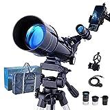Telescopios Astronomicos Profesional para Niños Adultos 40070 Portátil Refracción Telescopio Monocular para Principiantes con Adaptador de Teléfono - Observando la Luna y Observando a los Animales