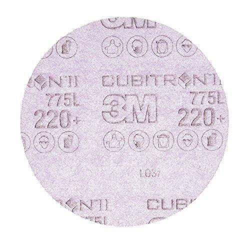 3 M 744493 Cubiton Ii Hookit - Disco de plástico (775 L, 220 +/, sin perforar, 150 mm, 50 unidades)