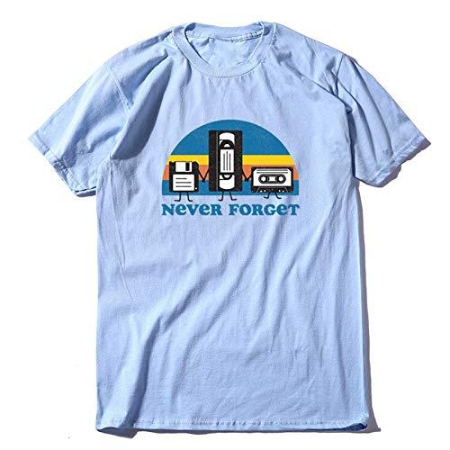 DSHRTY Top d'été,100% Coton à Manches Courtes drôle printmen T-Shirt Cool lâche Hommes t-Shirt o-Cou t-Shirt Hommes Tee Shirts Hauts, FU0179S2, QLAN, L