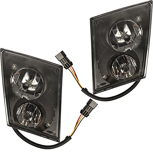 High Soar Replacement Fog Lights Lamps Pair with 2 Bulbs ‖ Truck Fog Lights Assembly Driver and Passenger side for 2003-2015 Volvo VNL VNM Truck (a Pair))