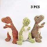 WNZL Plüsch Cord Durable Squeaky Hundespielzeug für Aggressive Kauer Toy-3-tlg