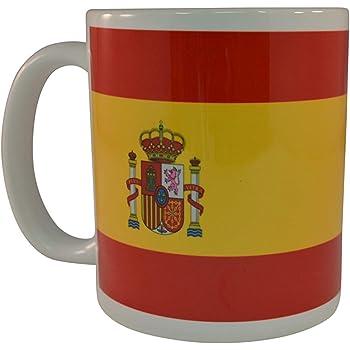 Taza de café con bandera española Taza de la novedad Gran idea de regalo para hombres Mujeres España: Amazon.es: Hogar