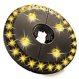 LEDGLE 太陽傘用 200LM 28連LEDランプ 電池式 夜間照明LEDライト 屋外活動 3つの照射モード 電球色