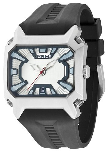 Police 13600JS/04 - Reloj analógico de Cuarzo para Hombre con Correa de Silicona, Color Negro