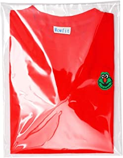 Wowfit 100 CT 10x13 inches Clear Cello Cellophane Plastic Bags, Re-Sealable Self-Sealing Cello Bags Great for Clothes, Shirts, Pants, Foods, Flyers, More (10 x 13 with Reinforced Sides)