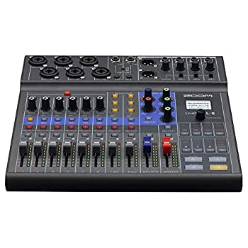 Zoom LiveTrak L-8 Podcast Recorder Battery Powered Digital Mixer and Recorder Music Mixer Phone Input Sound Pads 4 Headphone Outputs 12-In/4-Out Audio Interface Built In EQ and Effects