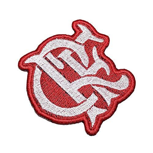 TRJ100T Flamengo Brasilien Brasilien Schild Fußball 100% bestickter Aufnäher Emblem Tag zum Aufbügeln oder Aufnähen, Größe 7,0 x 7 cm.
